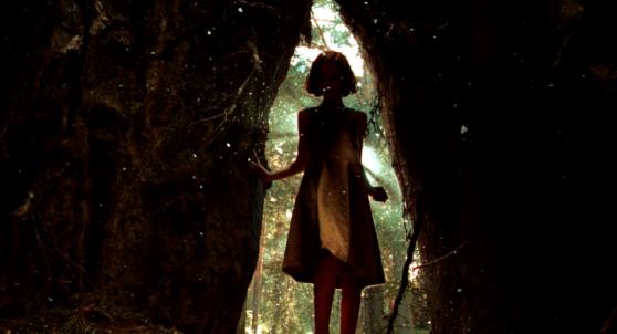 girl, tree, opening