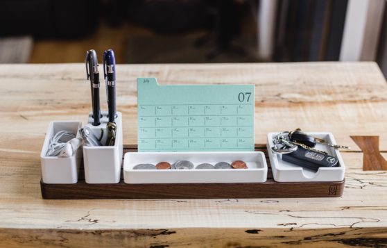 organized, desk, pens
