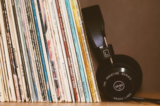 Music, vinyl, headphones