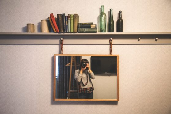 picture, mirror, alone