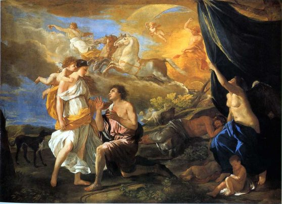 Poussin, painting, angel,
