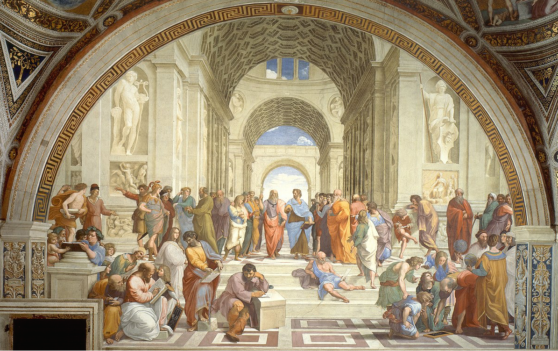 The school of athens, painting