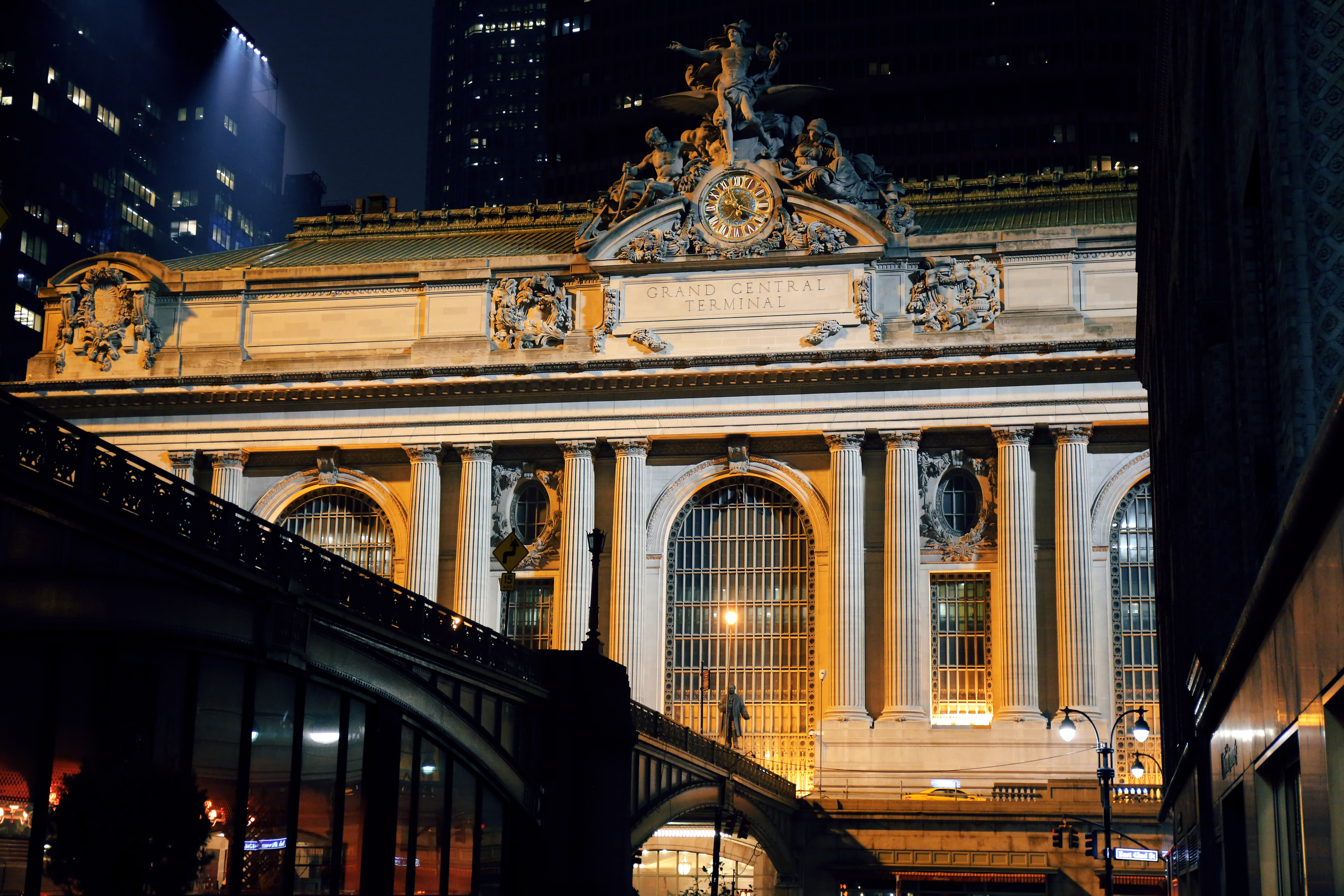 grand central, outside, train, new york