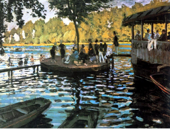 painting, monet, park, water