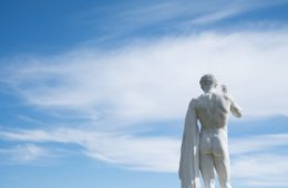 statue, sky