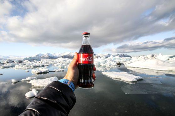 coke, iceberg, ad, sponsor