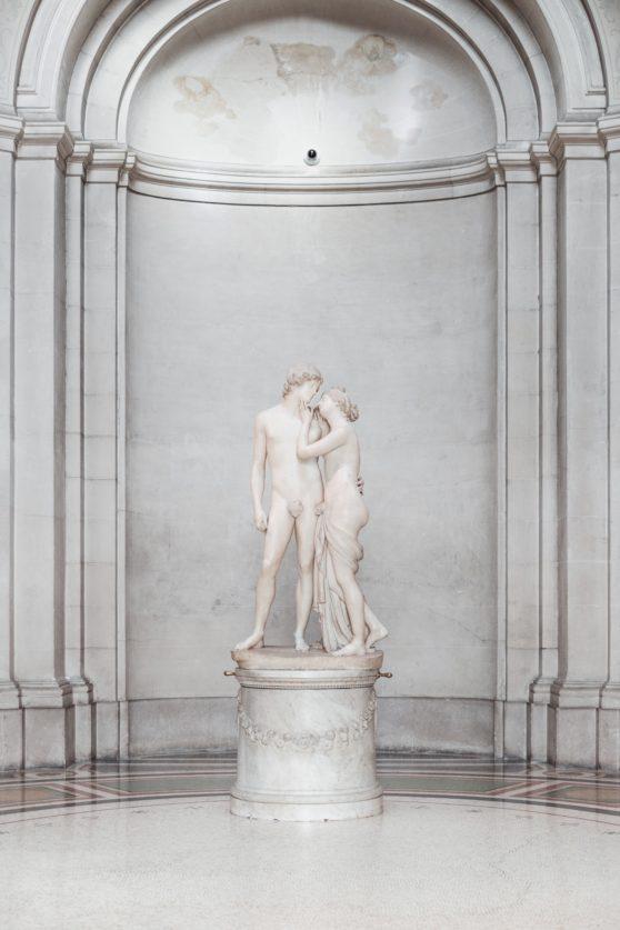 statue, man, woman