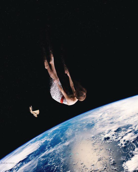 woman, sky, earth