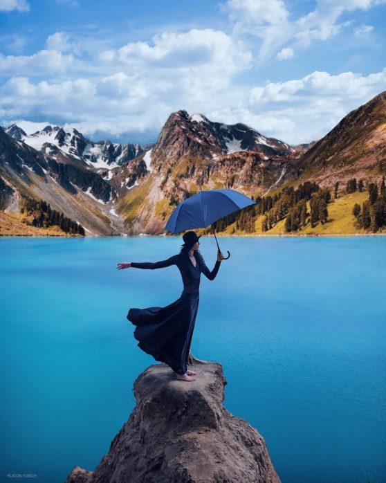 dance, waterm umbrella