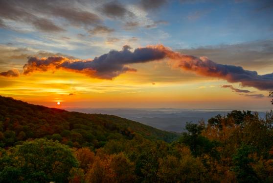 grandfather mountain, sunrise
