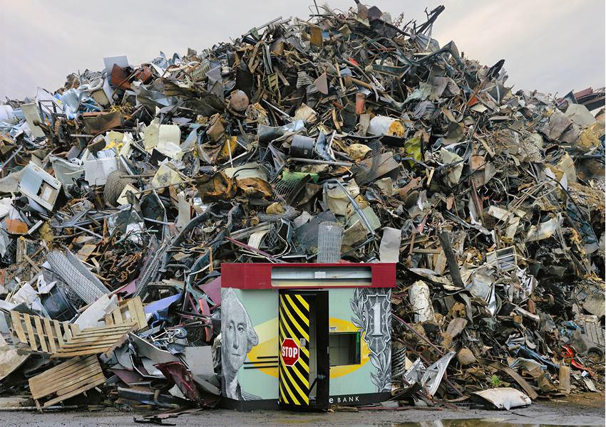 trash pile, landfill