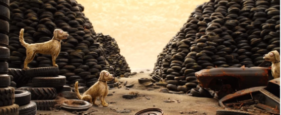 isle of dogs, trash, tires