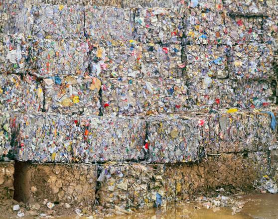 trash, cube, pile, landfill