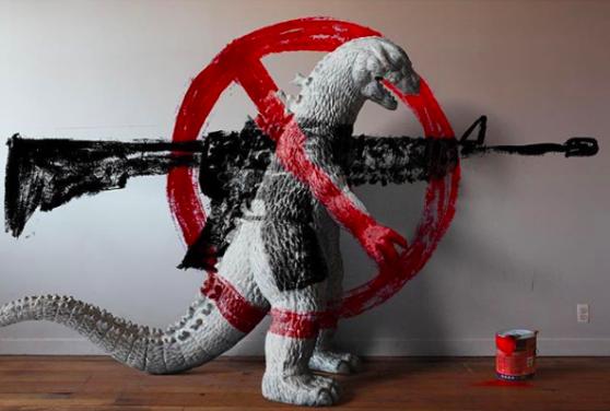 Godzilla, anti-gun, campaign