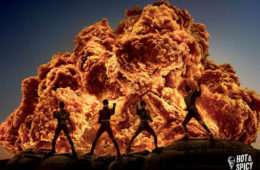 explosion, action film, fried chicken