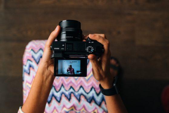 camera, person
