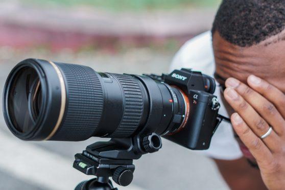 sony, lens