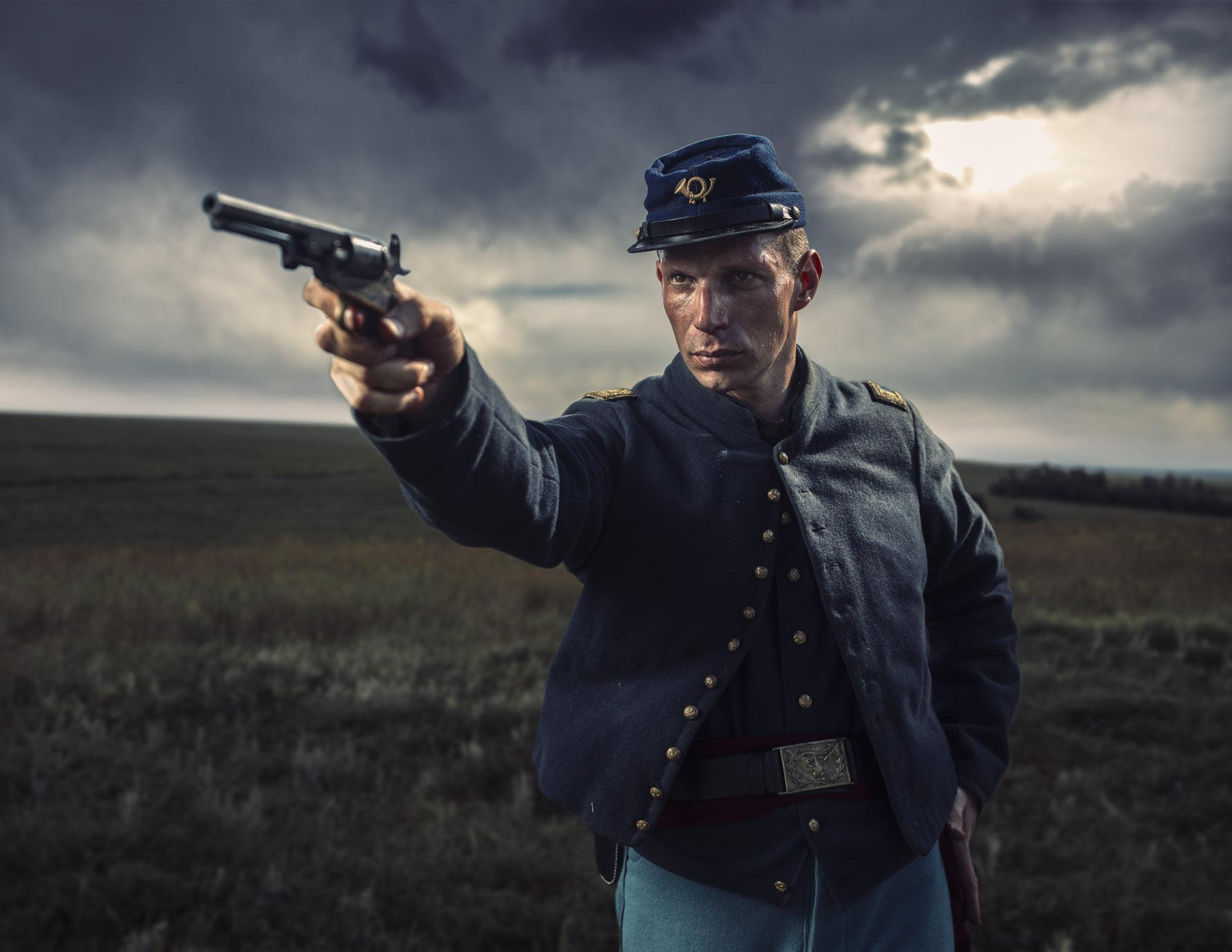 Cinematic color grade civil war soldier justin lister